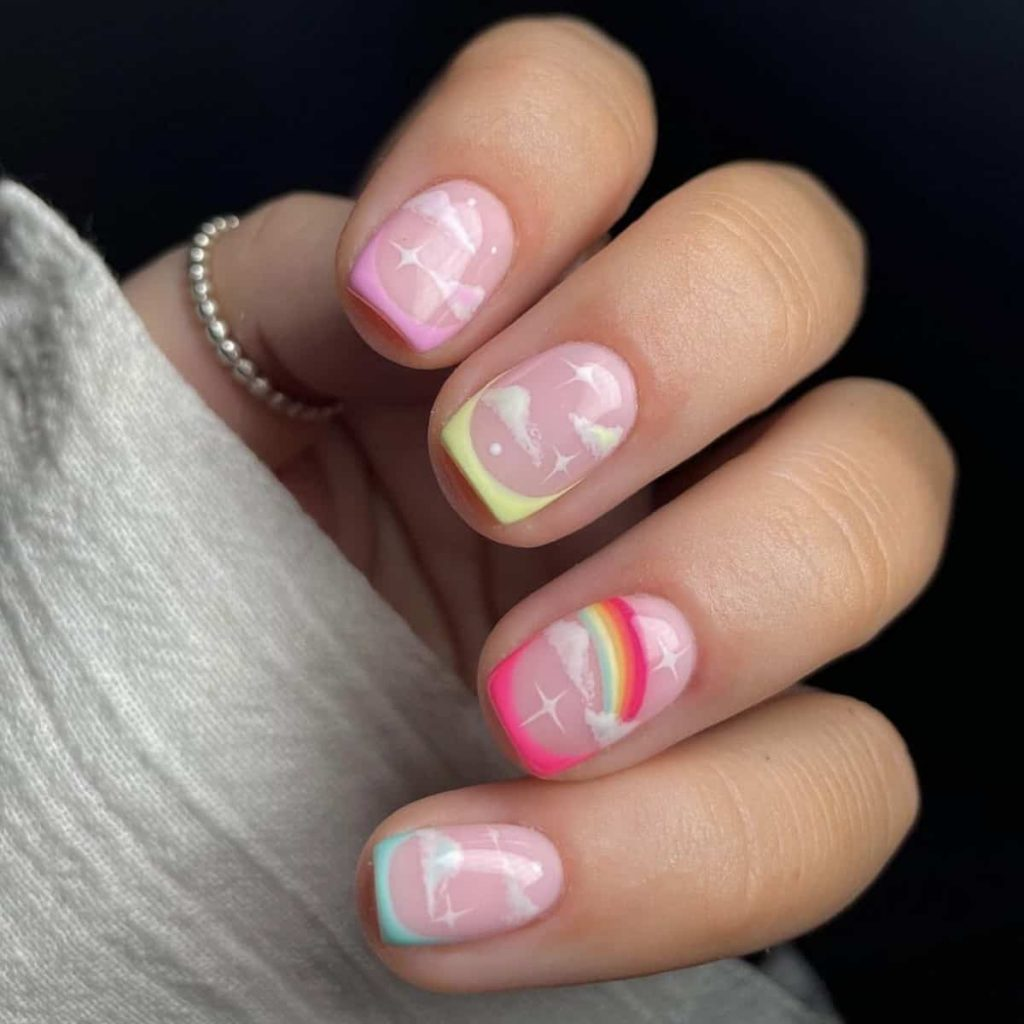 cloud summer nails
