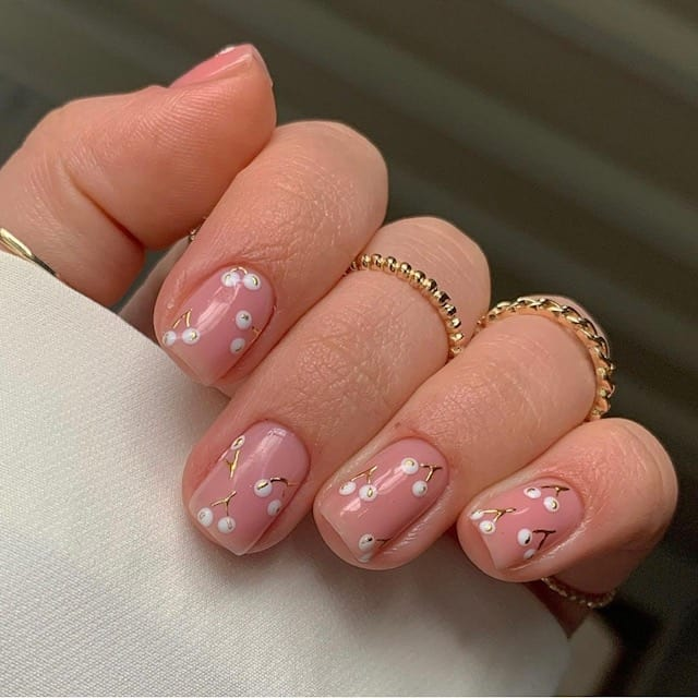 cherries summer nails