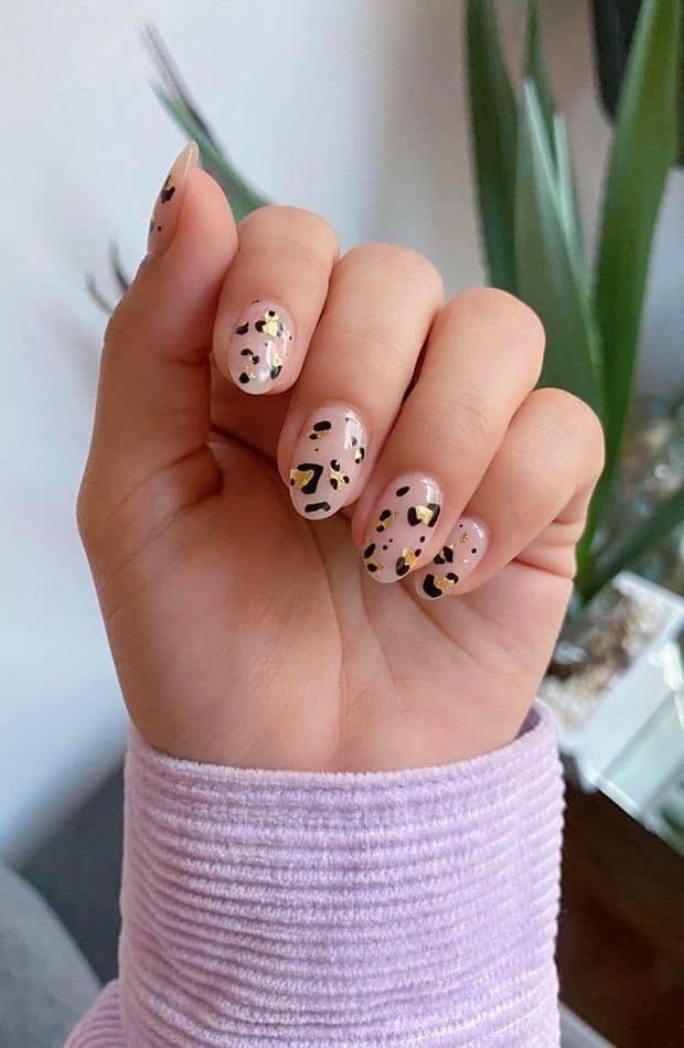 animal print summer nails
