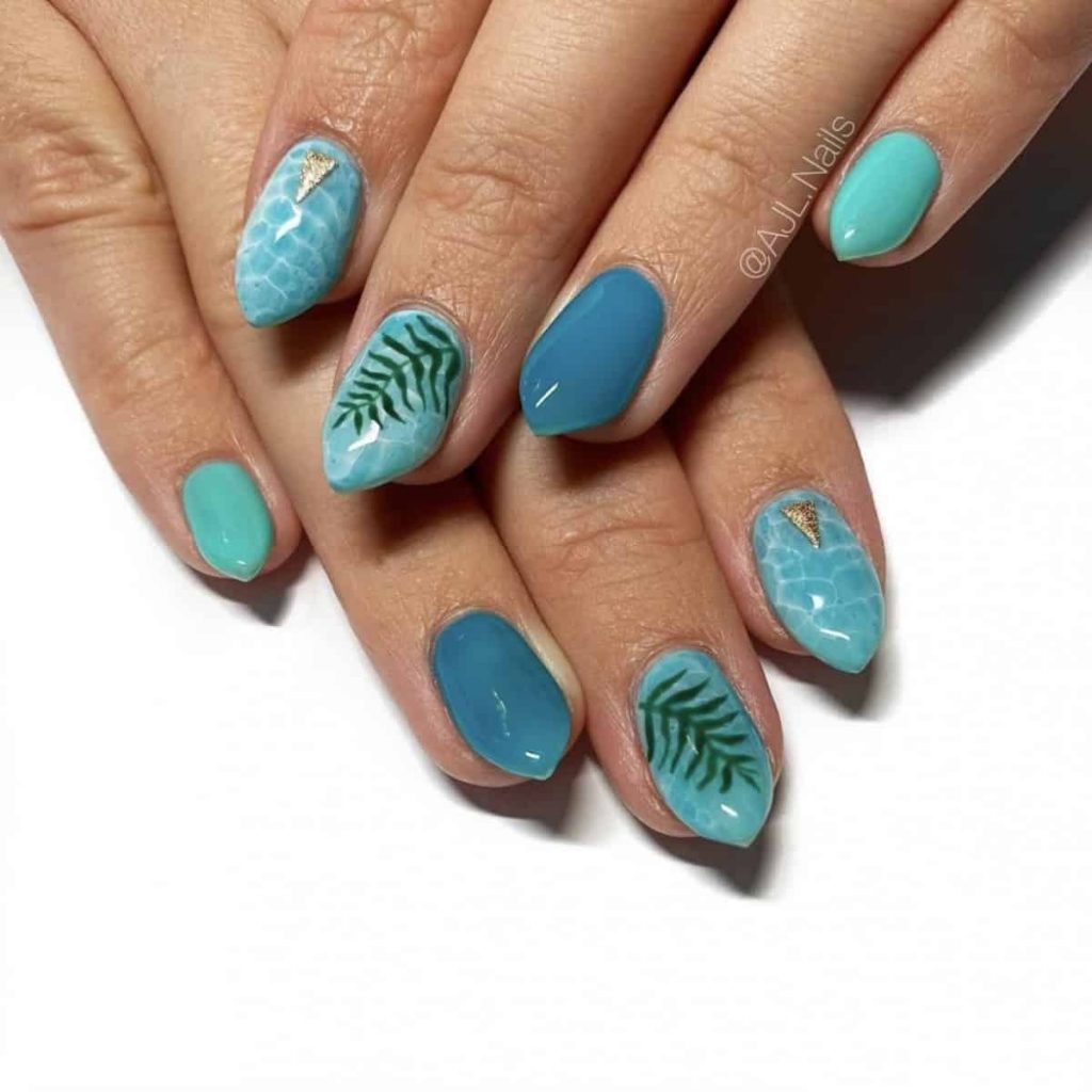vacation summer nails