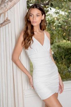 best white grad dress