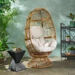 stationary egg chair